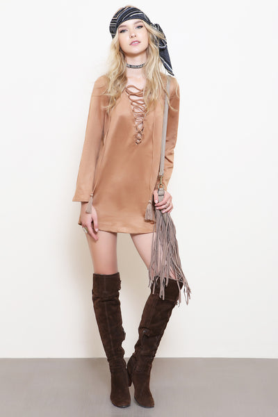 River Run Suede Dress - FINAL SALE