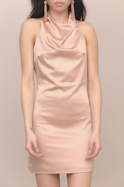 At Midnight Satin Dress