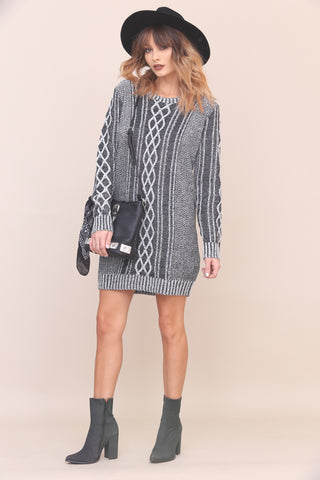 Narrow Escape Sweater Dress by Minkpink- FINAL SALE