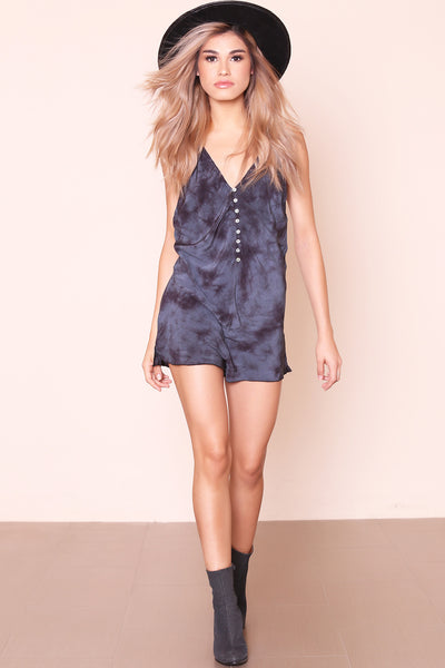 Walkabout Washed Romper by Free People - FINAL SALE