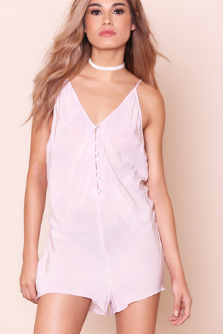 Walkabout Washed Romper by Free People- FINAL SALE