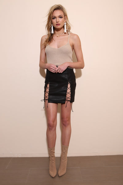 Fast Lane Leather Skirt - FINAL SALE