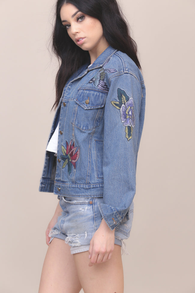 Blooming Denim Jacket - FINAL SALE