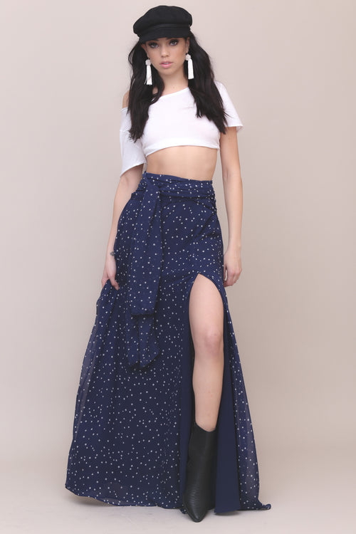 Salute You Star Maxi Skirt by Lioness - FINAL SALE