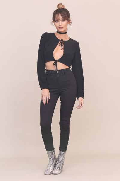 Tied Trying Crop Top - FINAL SALE