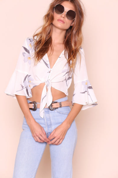 Flutter Me Up Crop Top - FINAL SALE