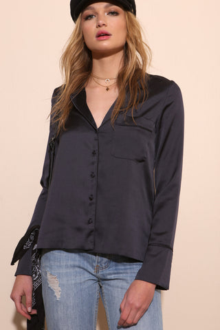 Soho Satin Shirt - FINAL SALE