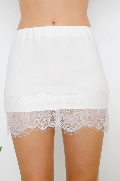 Lace Applique Skirt by Lioness