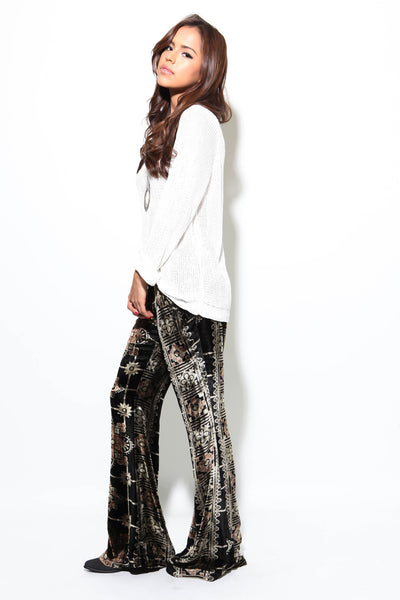 Velvet Wide Leg Trouser by Chaser - FINAL SALE