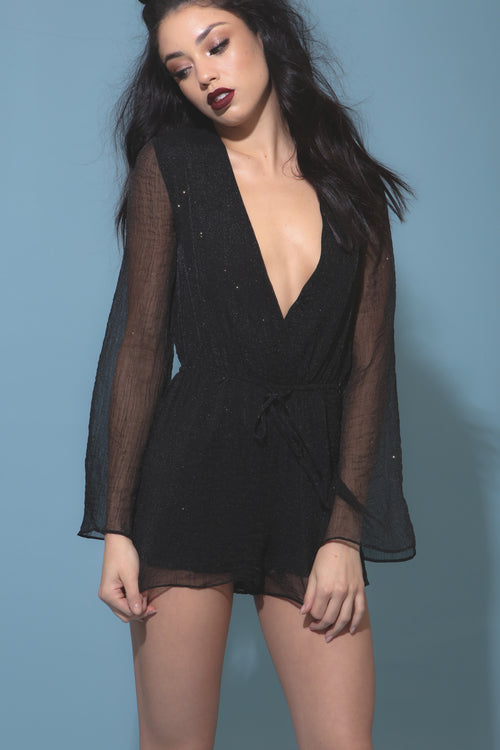 Ball Drop Romper - FINAL SALE