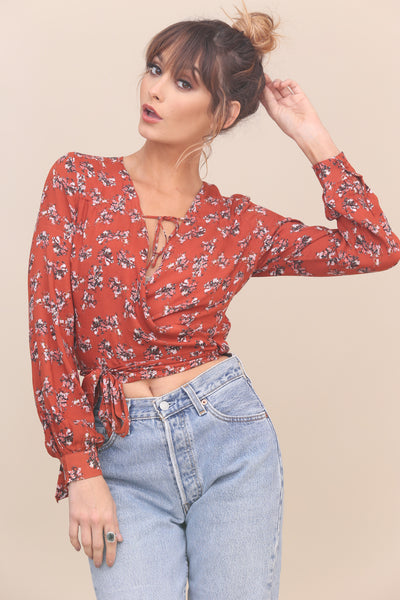 Songbird Wrap Crop Top