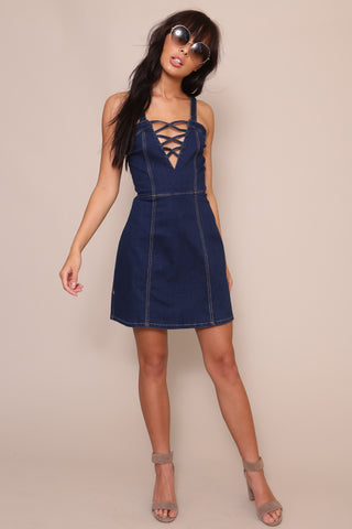 Lakeside Blues Strappy Dress by Somedays Lovin