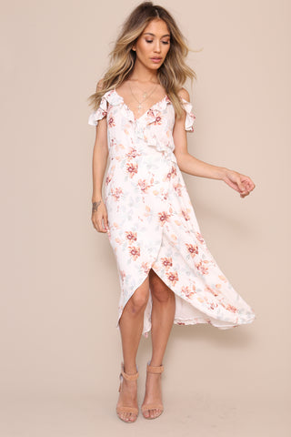 Innocence Wrap Midi Dress by Minkpink