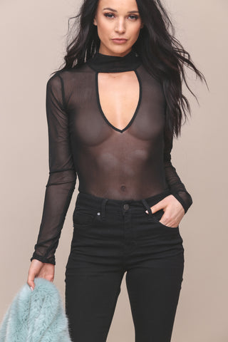 Centerpiece Mesh Bodysuit- FINAL SALE