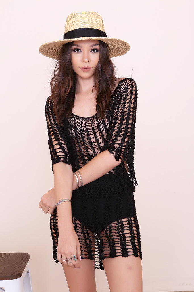 Foam Crochet Dress by Tiare Hawaii- FINAL SALE