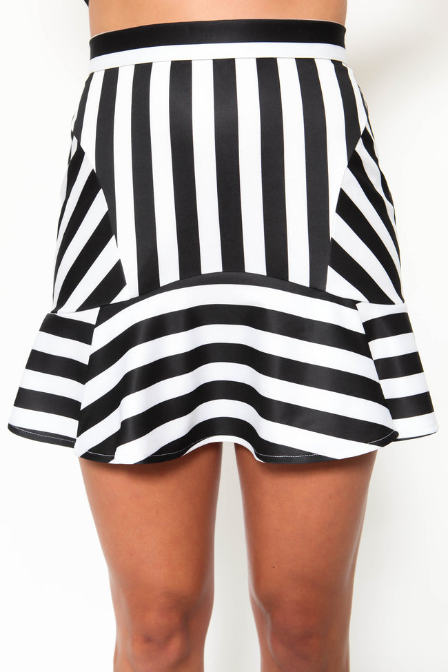 Night Stripe Skirt - FINAL SALE