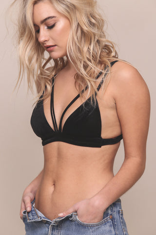 Mad Love Velvet Bralette - FINAL SALE