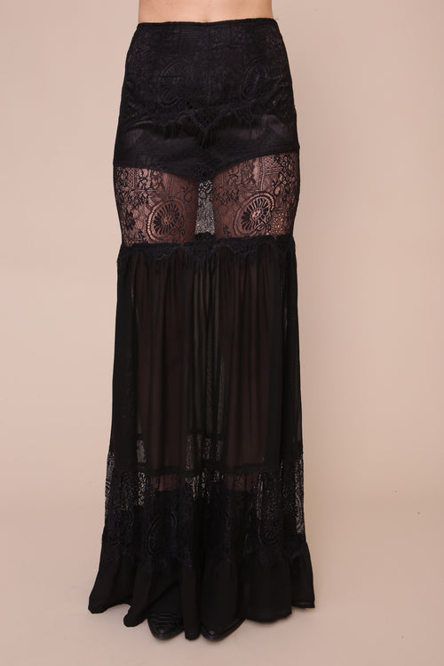 Black Magic Maxi Skirt - FINAL SALE