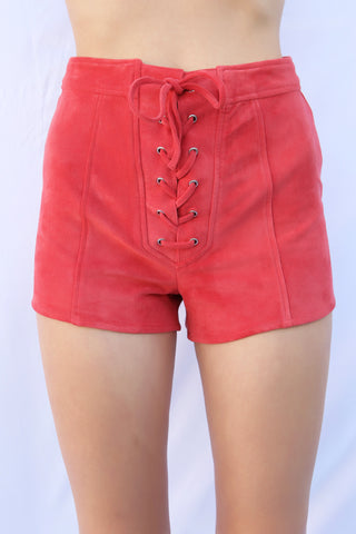 Tied Up Lace Front Shorts by Minkpink - FINAL SALE