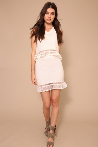 Ruffle Skirt by Moon River - FINAL SALE