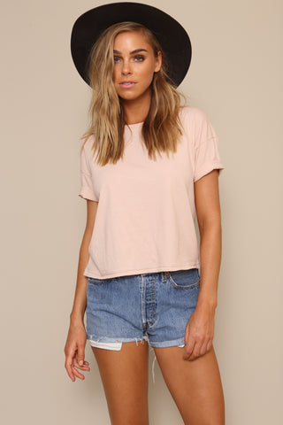 Andi Solid Crop Tee by Amuse Society