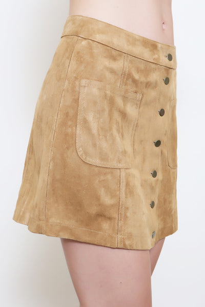 Folk Song Suede Skirt - FINAL SALE