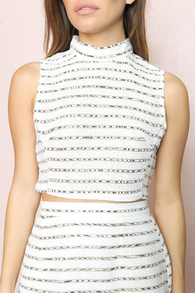White Wonderland Crop Top - FINAL SALE
