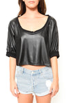 Beat It Leather Crop Top - FINAL SALE