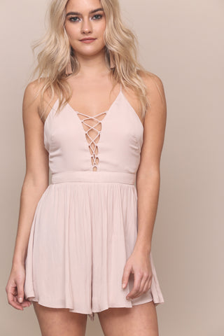 Lace Up To No Good Romper