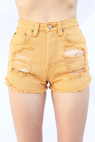 Beach Bum Ochre Slasher Shorts by Minkpink - FINAL SALE