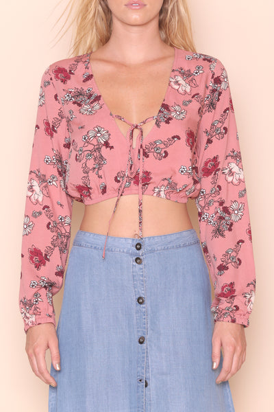 Field Of Dreams Crop Blouse by Minkpink - FINAL SALE