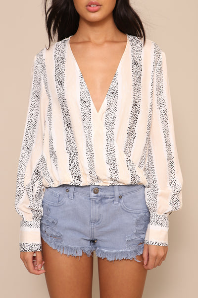 Sundowner Wrap Blouse by Minkpink