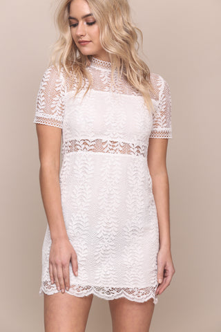 Tell Tale Lace Tee Dress by Minkpink