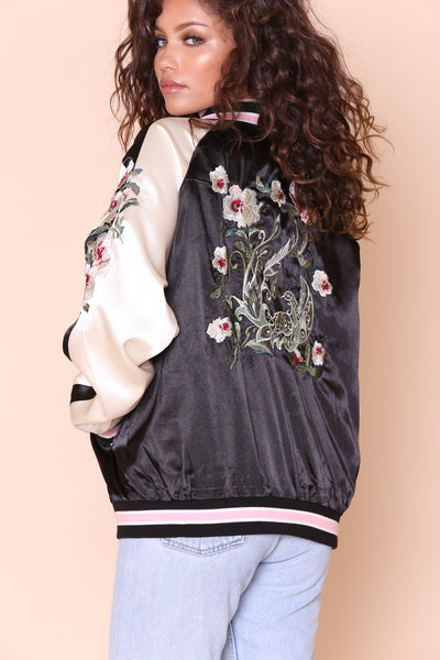 Bad Blooms Bomber Jacket - FINAL SALE