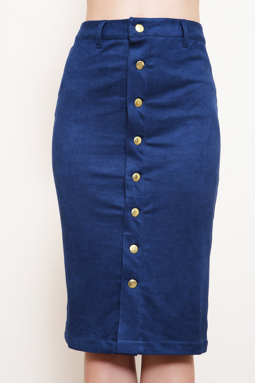 Strong Suit Suede Pencil Skirt - FINAL SALE