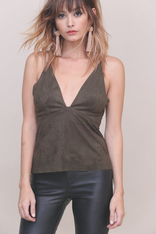 Get Into The Groove Suede Tank