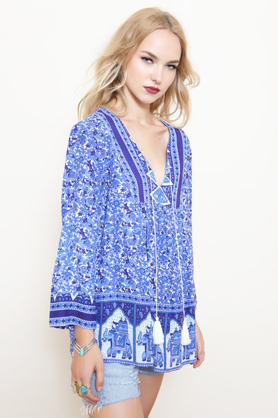 Gypsy Blues Blouse by RAGA - FINAL SALE