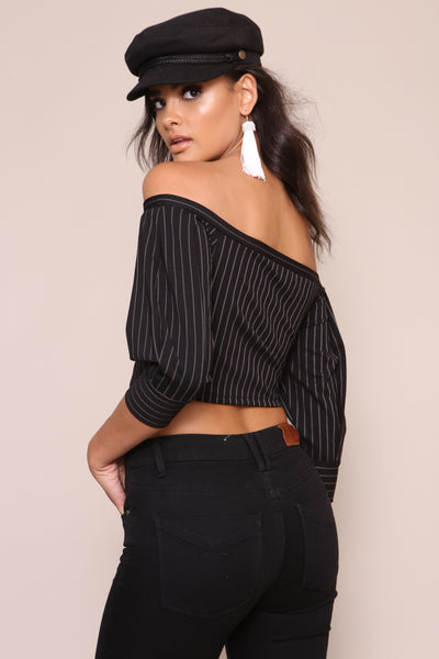 Lucky Stripe Crop Top