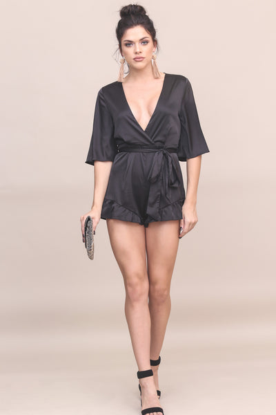 Soiree Satin Romper - FINAL SALE