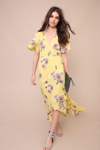 New Blooms Wrap Maxi Dress