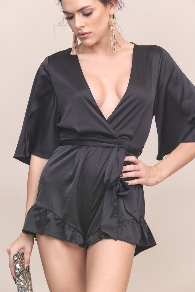 Soiree Satin Romper