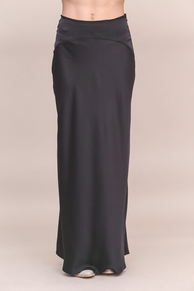 Night Moves Satin Maxi Skirt - FINAL SALE