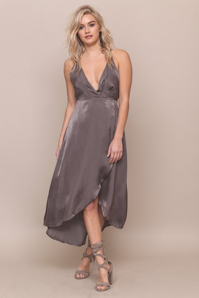 Walk The Shine Satin Dress - FINAL SALE