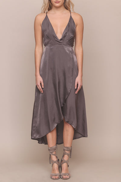 Walk The Shine Satin Dress