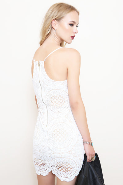 Fall In Lace Dress - FINAL SALE