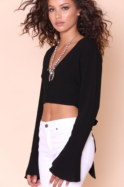 Bells & Whistles Crop Top - FINAL SALE