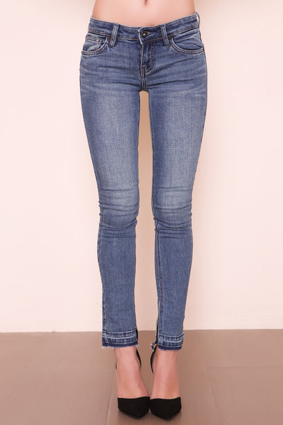 Side Slit Low Rise Jean by Free People - FINAL SALE