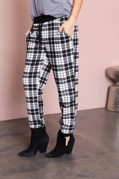 Plaid Habit Joggers - FINAL SALE