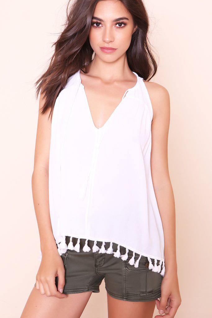Such A Tassel Tank- FINAL SALE