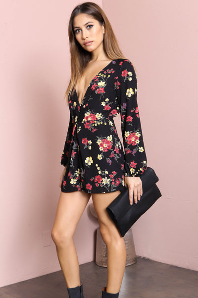 Night Orchid Romper - FINAL SALE